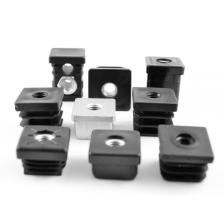 Threaded tube inserts, for square tubes