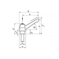 Greb med skrue, dessin BKP