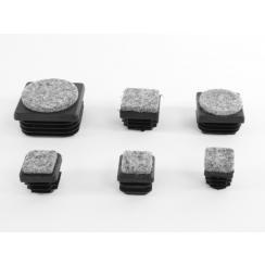 Rørben med filt til 4-kante rør