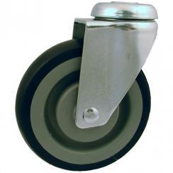 Sort PUR-banehjul med plastfælg, serie AG