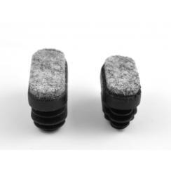 Rørben med filt til ovale rør
